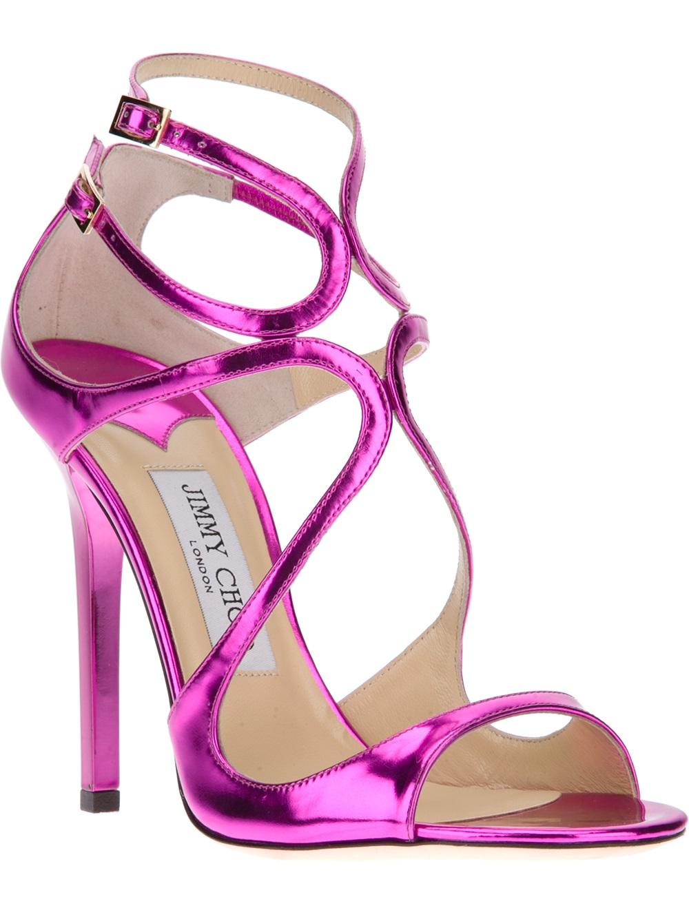 lyst jimmy choo lance sandal in purple rh lyst com