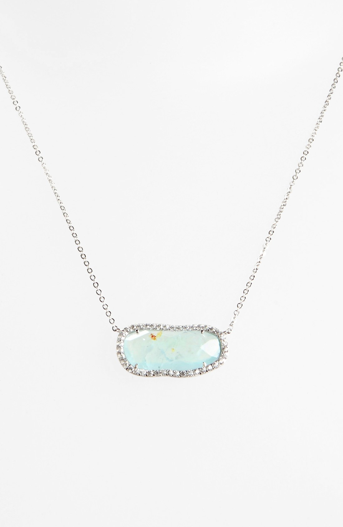 Nadri Aquamarine Pendant Necklace Nordstrom Exclusive in Silver ...