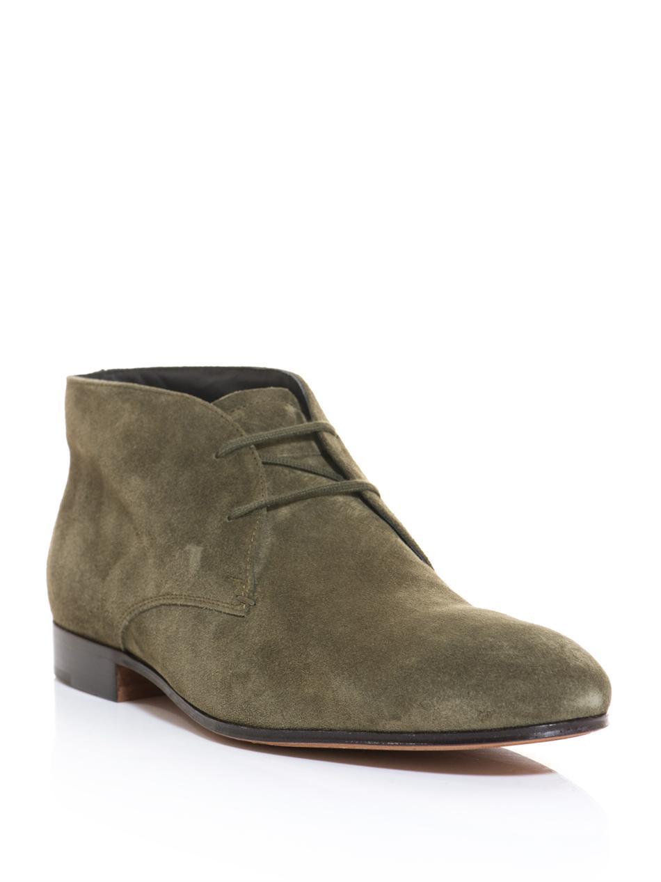 tod 39 s suede desert boots in beige for men desert lyst. Black Bedroom Furniture Sets. Home Design Ideas