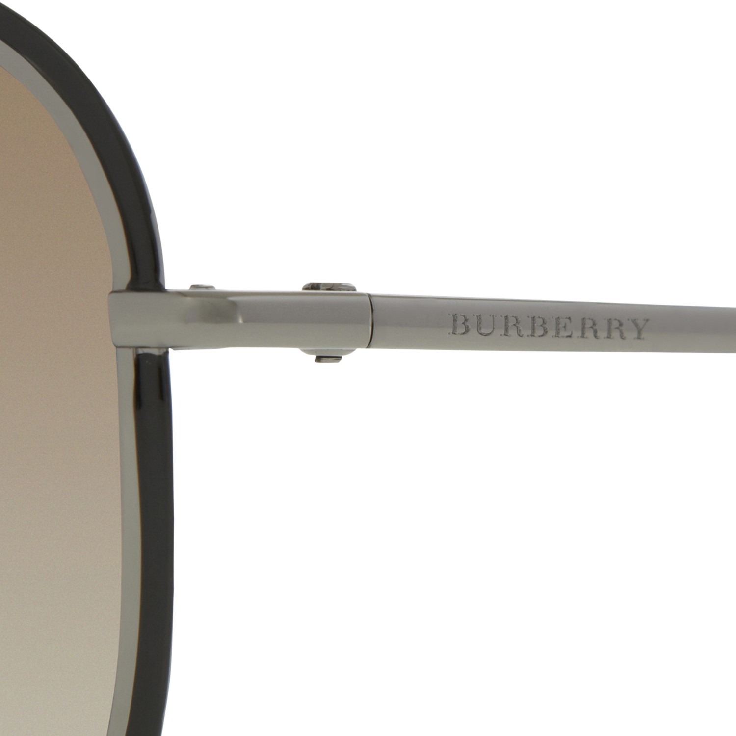 Burberry Square Metal Frame Aviator Style Sunglasses in Brown