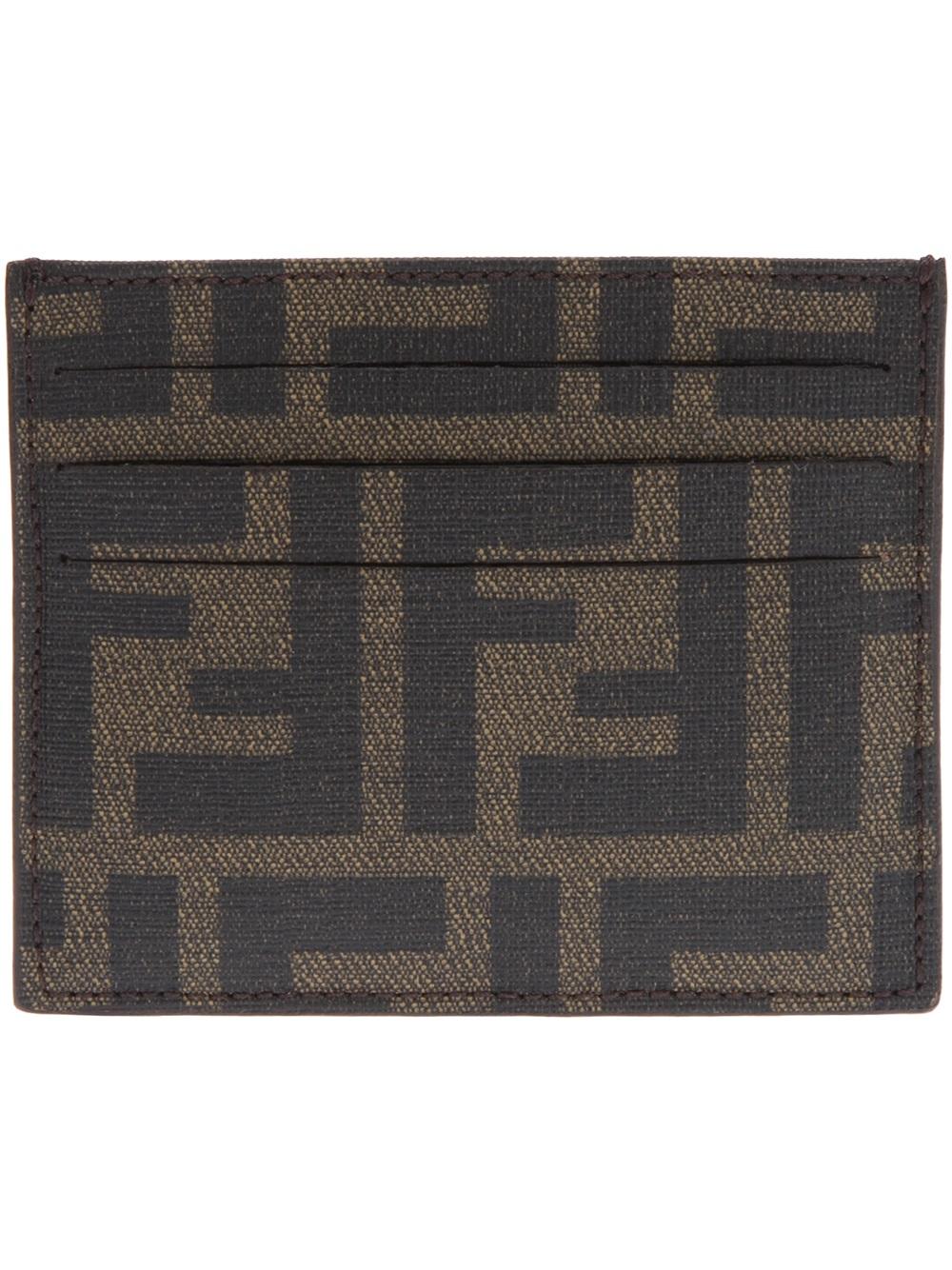 6e430a2ea1 Fendi Brown Card Holder Wallet for men