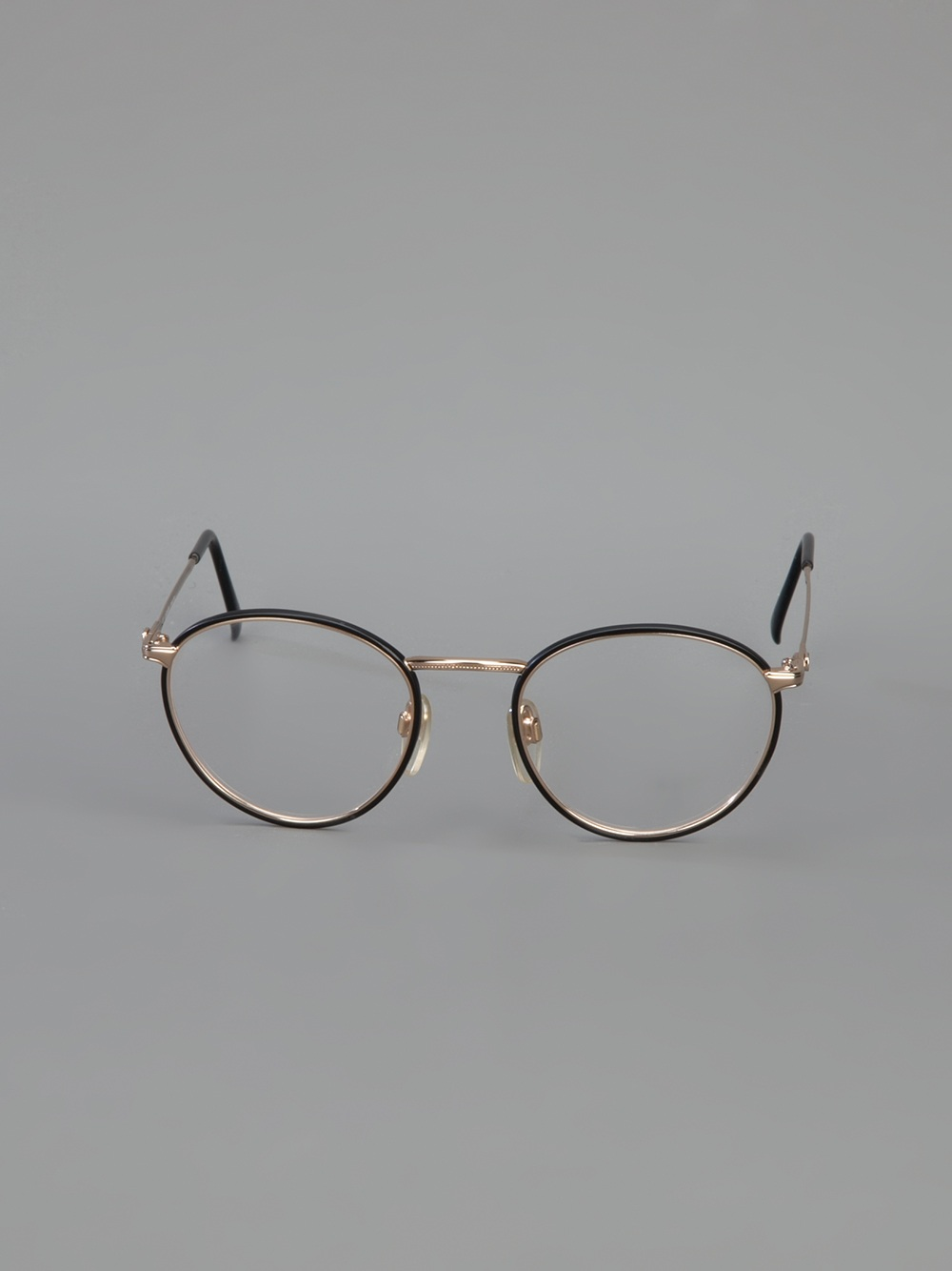 Lyst - Valentino Round Frame Optical Glasses in Black
