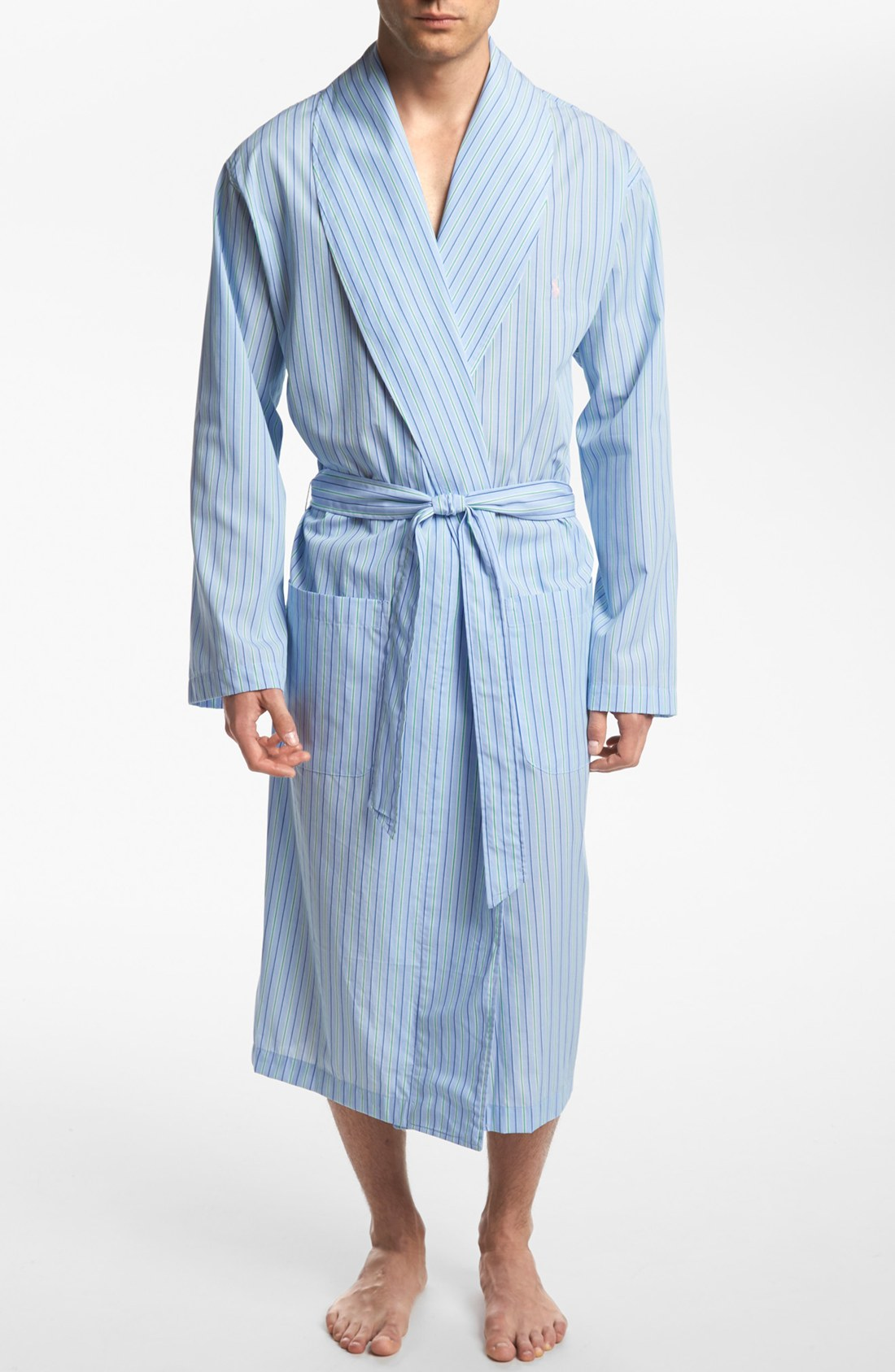 polo ralph lauren woven cotton robe in blue for men save 10 lyst. Black Bedroom Furniture Sets. Home Design Ideas