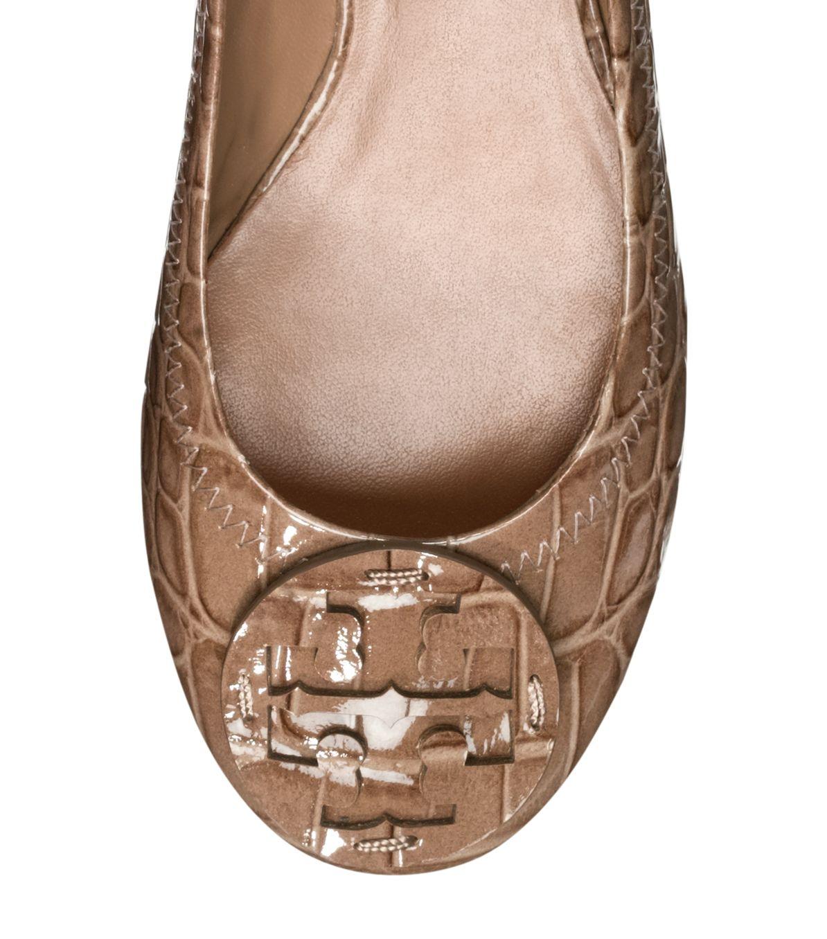 8846f252acc9 Lyst - Tory Burch Croc Printed Reva Ballet Flat in Brown