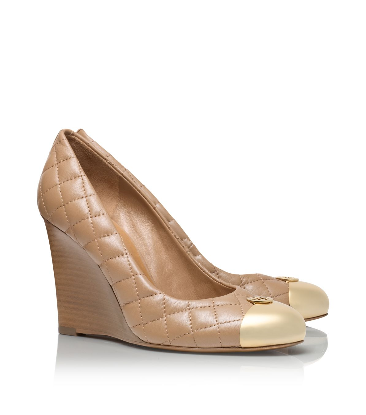 fb479140799b Tory Burch Kaitlin Wedge in Natural - Lyst
