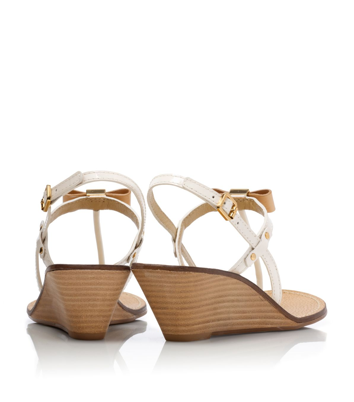 72a92f163df0 Lyst - Tory Burch Kailey Wedge Thong Sandal in Natural