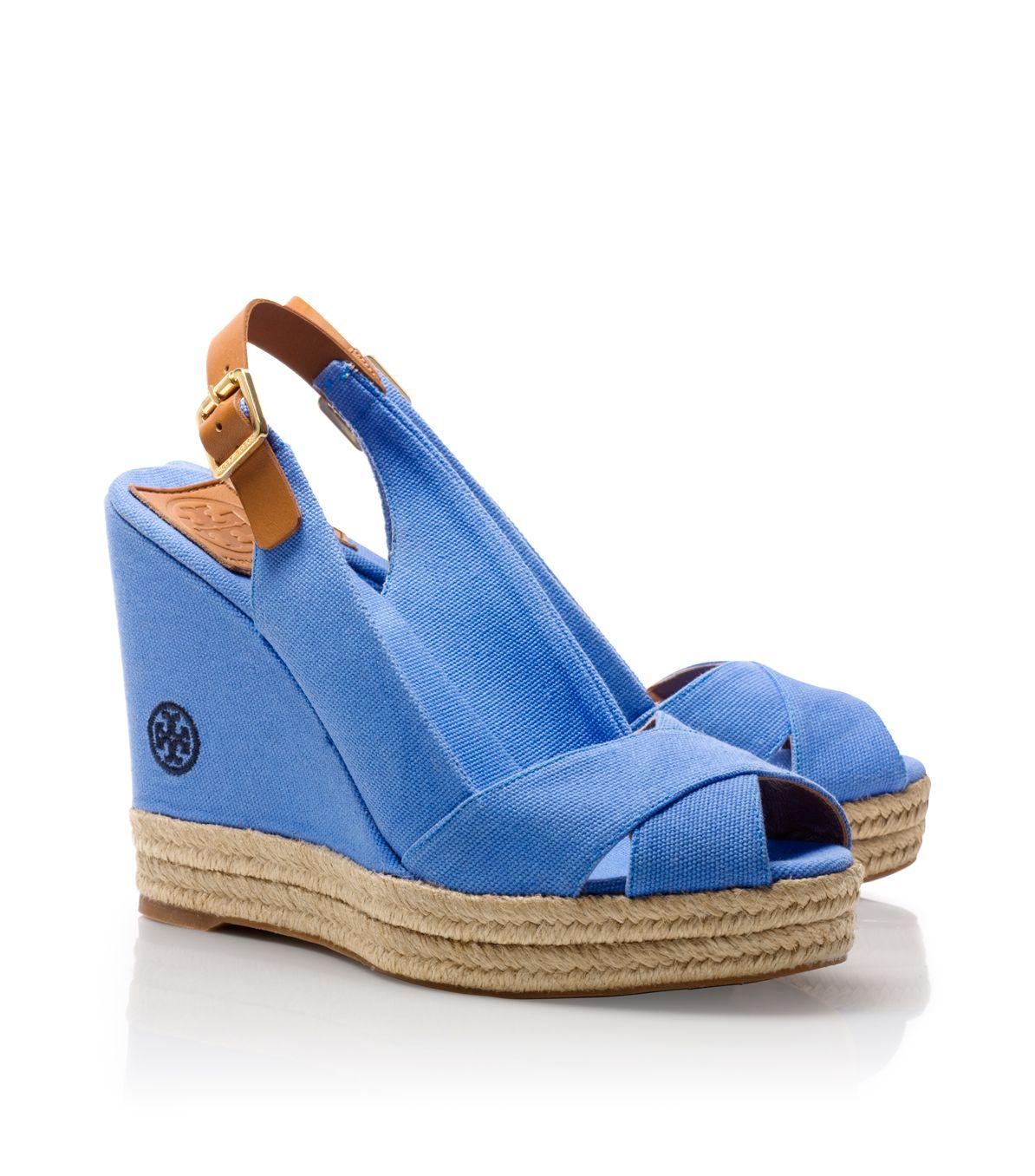 5d0fe43f1da0 Lyst - Tory Burch Beller Wedge in Blue