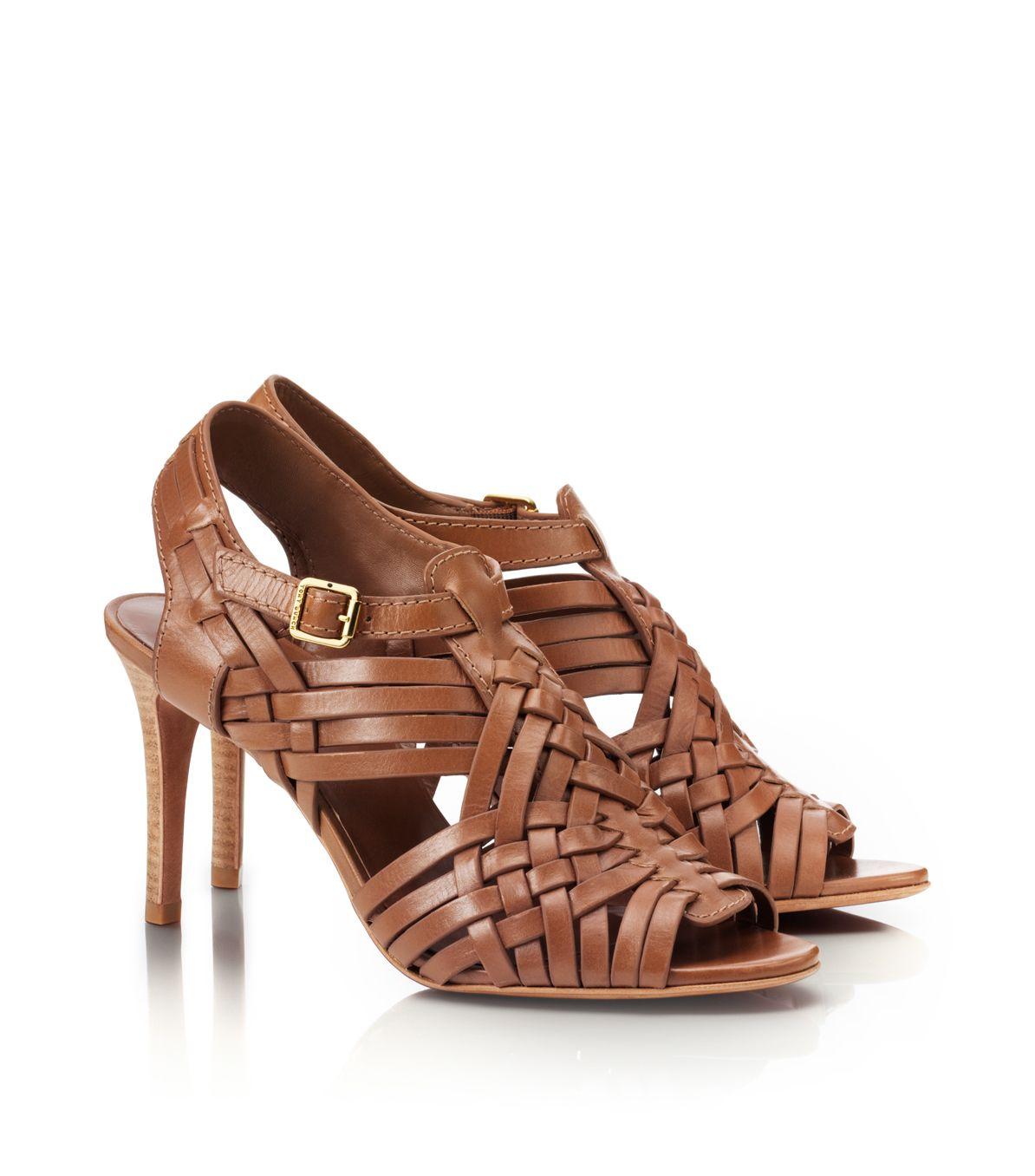 895f1c6cf3b8 Lyst - Tory Burch Nadia Mid Heel Sandal in Brown