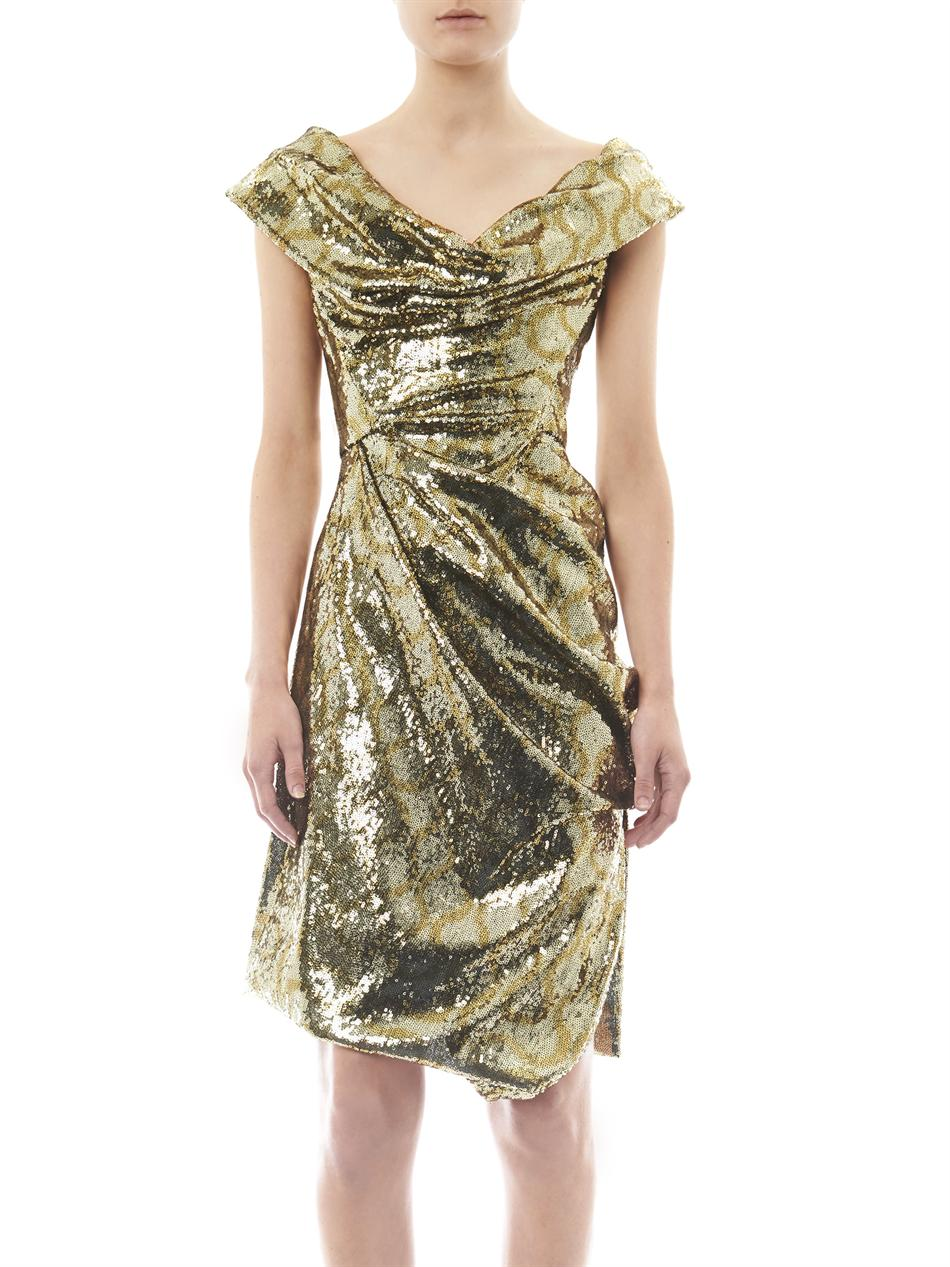 Vivienne Westwood Gold Label Sequin Squiggle Print Fitted