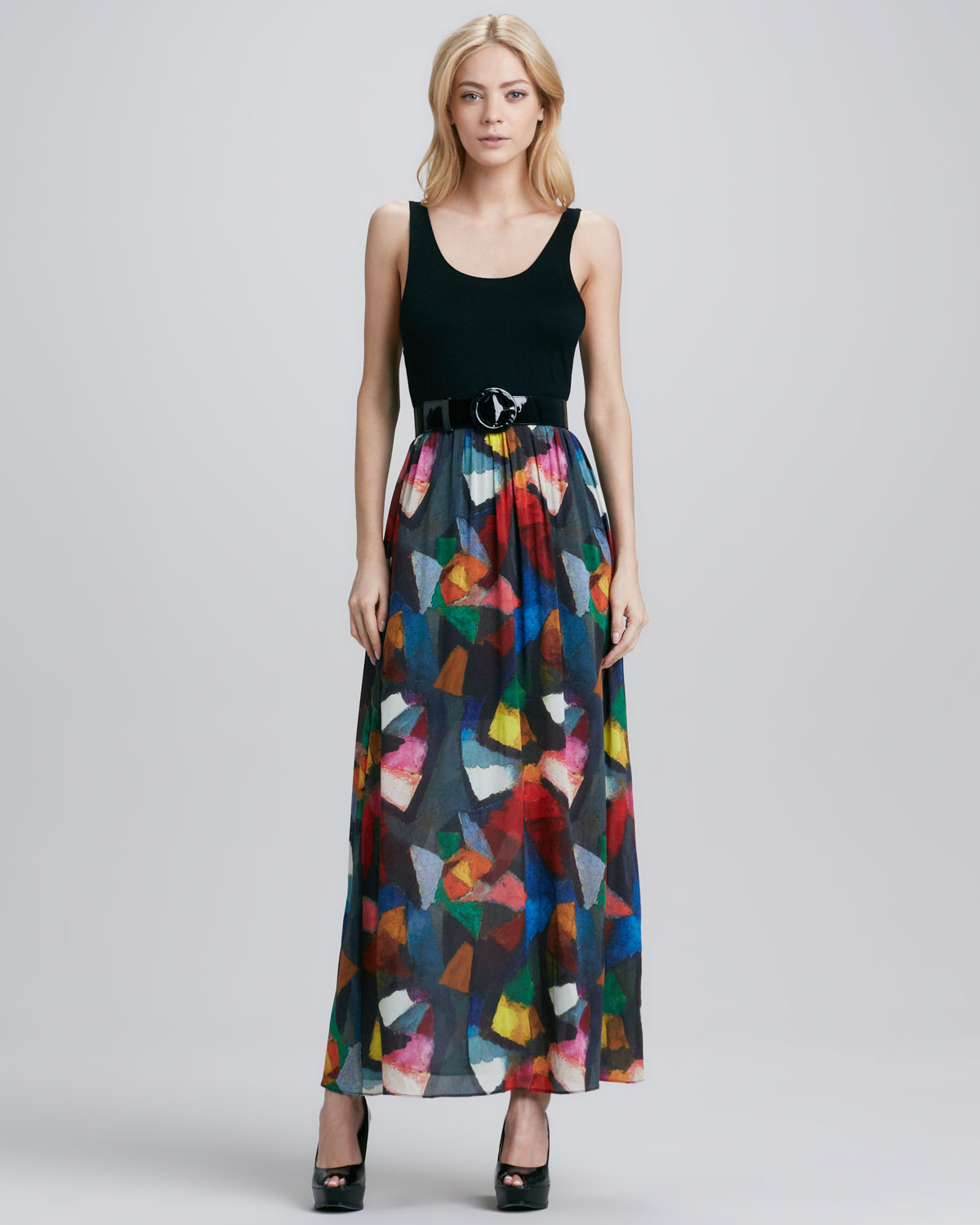 Alice   olivia Alice Olivia Kell Belted Maxi Dress in Black | Lyst