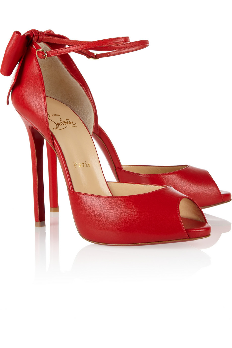 Red Heels With Bow On Back - Is Heel