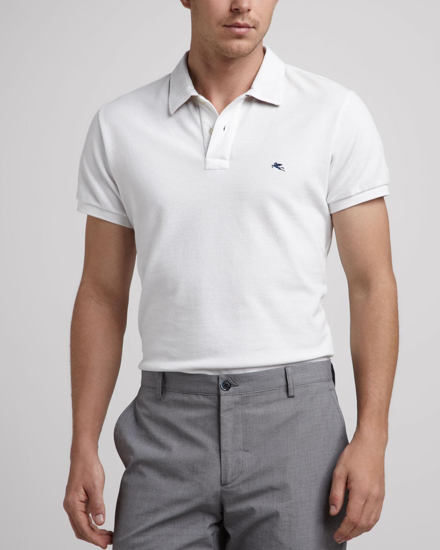 Lyst - Etro Pegasus Polo White in White for Men fa68123309c3