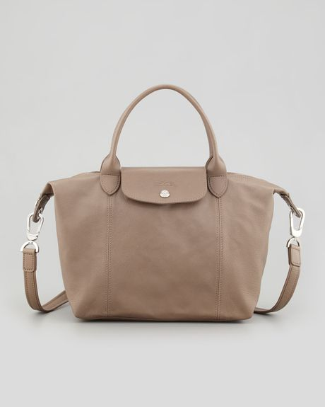 Sac Longchamp Pliage Beige : Longchamp le pliage cuir small handbag with strap in beige
