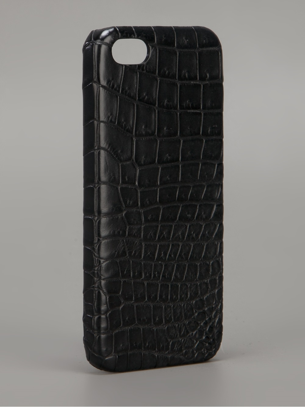 pretty nice 32df2 f7767 Maison Takuya Black Crocodile Iphone 5 Case