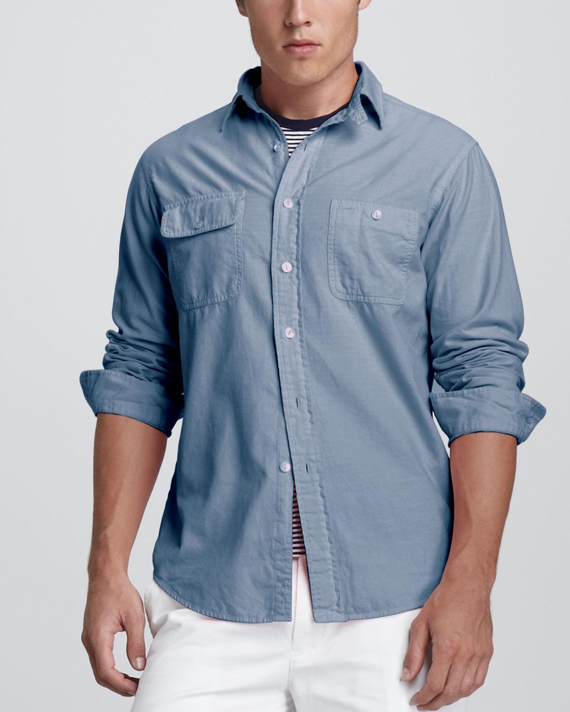 Partina City Fumla varumärke  Polo Ralph Lauren Custom-fit Two-pocket Shirt Light Bermuda Wash ...