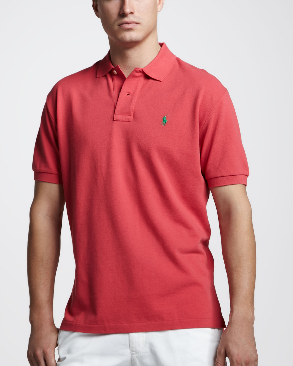 Lyst - Polo Ralph Lauren Customfit Polo in Red for Men 77254ff36af7