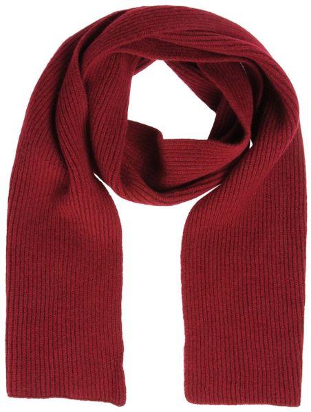 pringle of scotland oblong scarves in for maroon