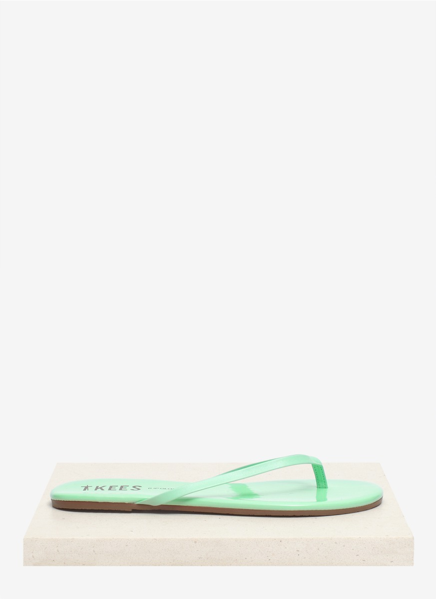 167c2ef004db Lyst - TKEES Lip Glosses Minty Leather Flip-flops in Blue