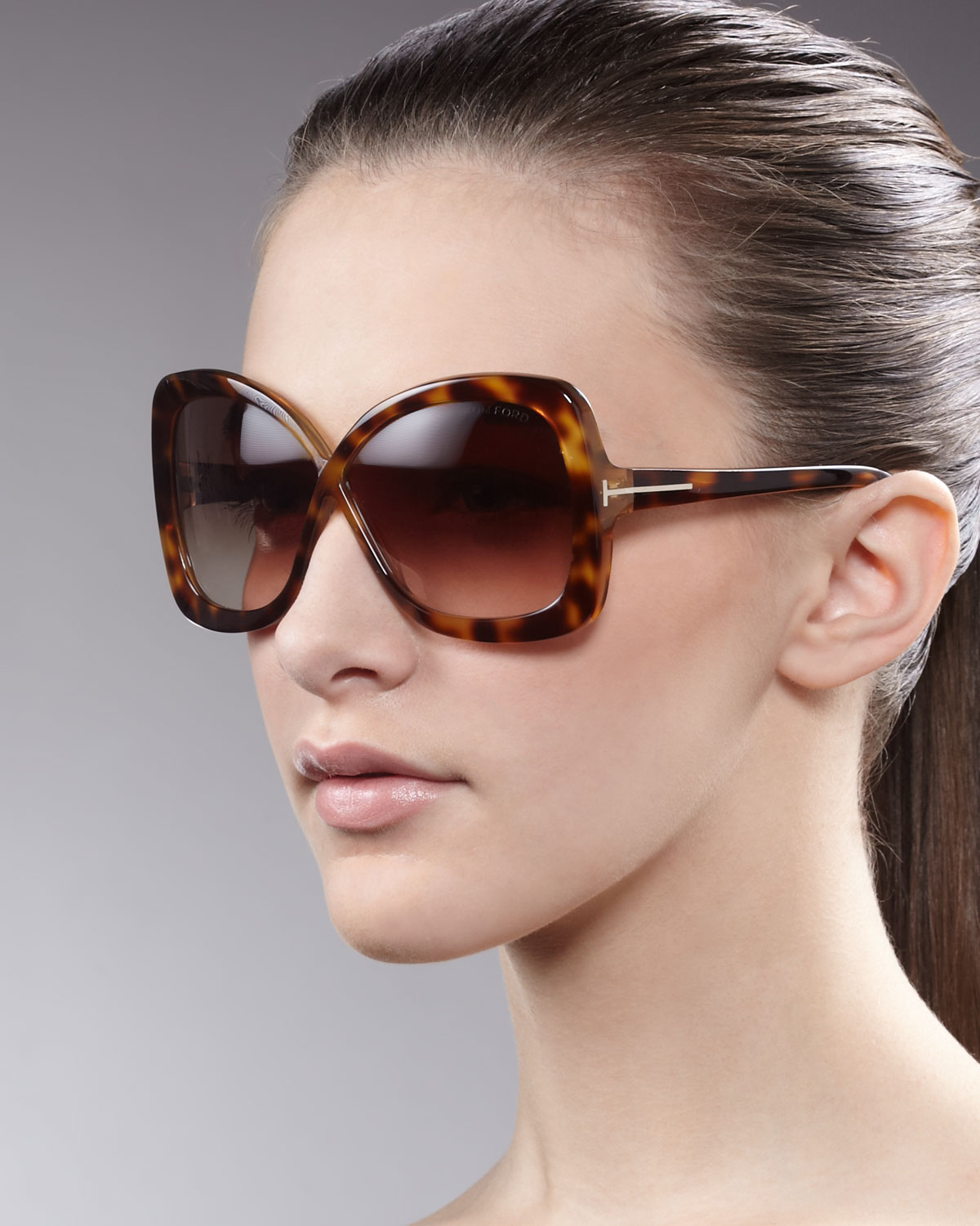 8eb02170d9407 Tom Ford Calgary Butterfly Sunglasses Havana in Brown - Lyst