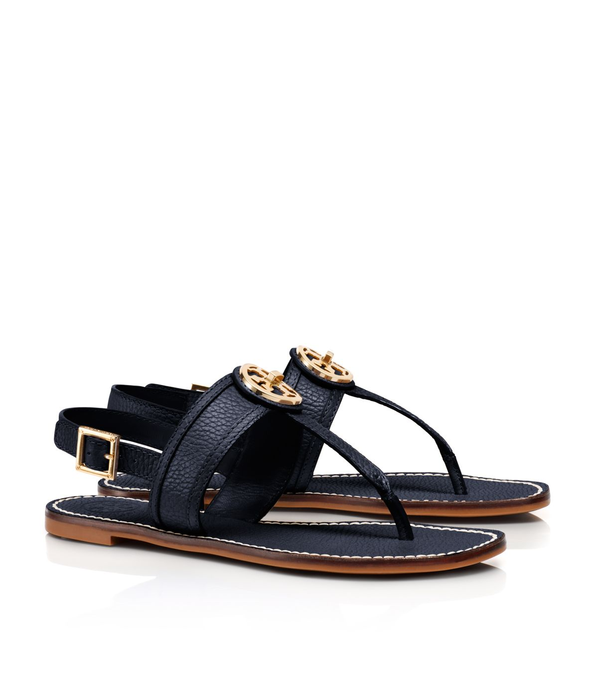 Tory Burch Logo Slingback Sandals cheap sale the cheapest 2HRWG