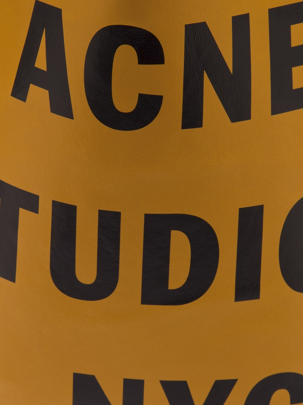 Acne Studios Rumor Us Tote in Yellow & Orange (Metallic)