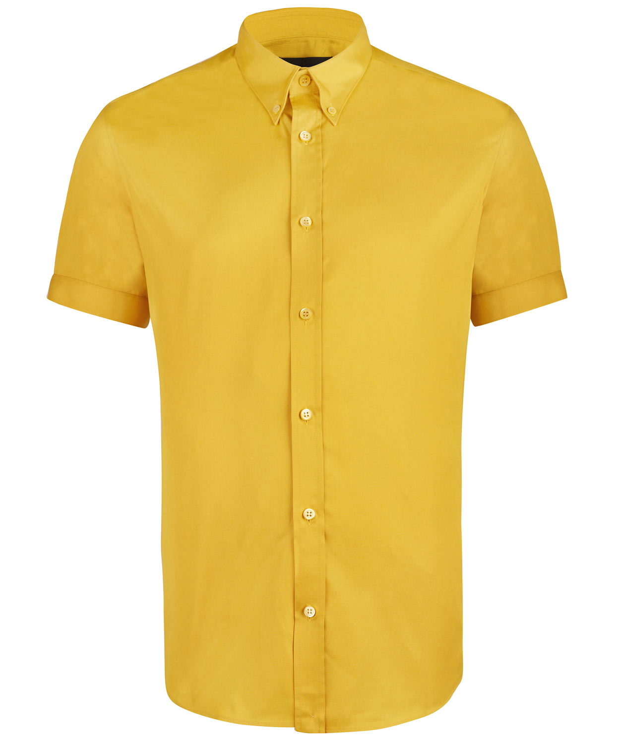 Alexander mcqueen Yellow Pitt Button Down Shirt in Yellow for Men ...