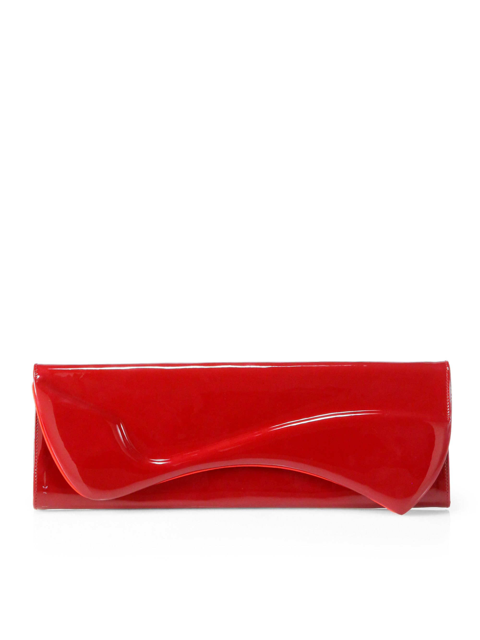 christian louboutin pigalle patent clutch
