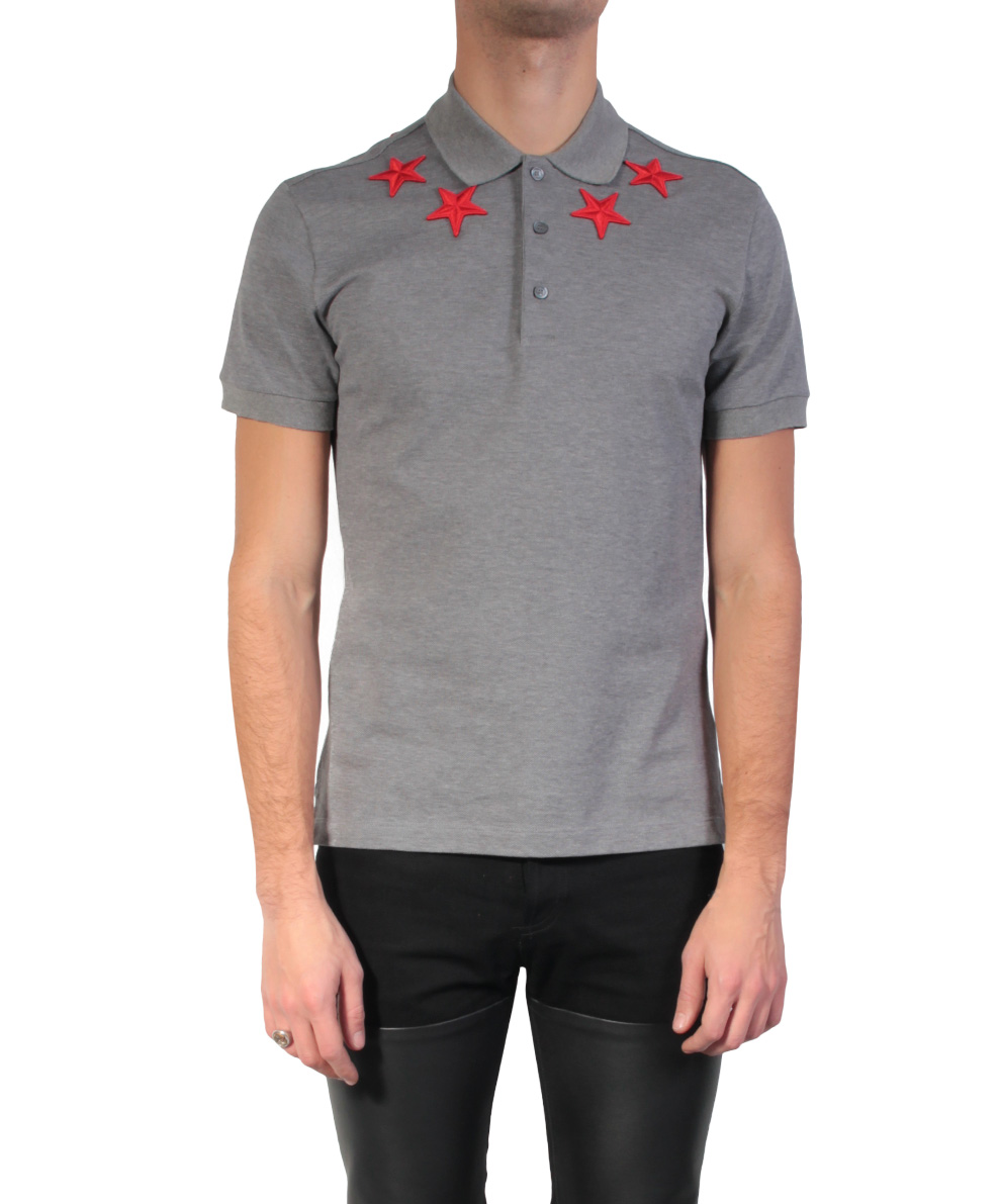 Givenchy Polo Shirt Stars In Gray For Men Lyst