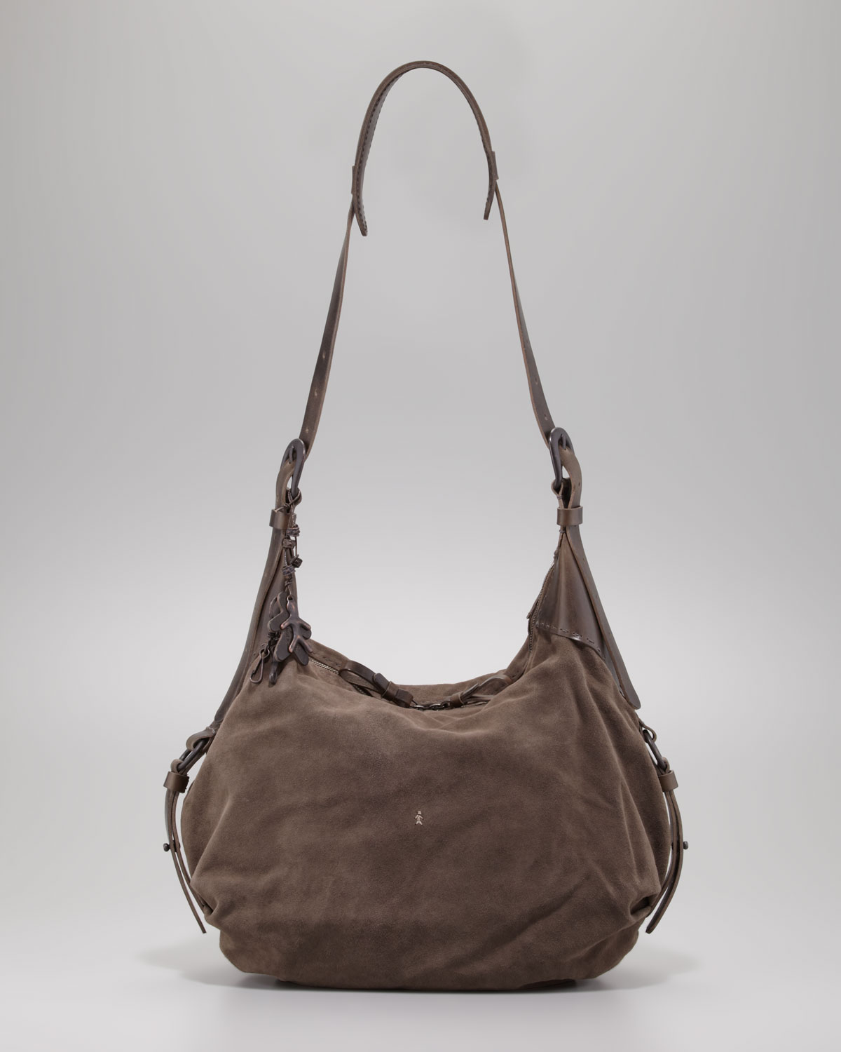 d91e91480f Henry Beguelin Suede Messenger Bag in Gray - Lyst