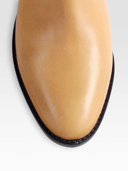 loeffler randall fenton leather buckle ankle boots in