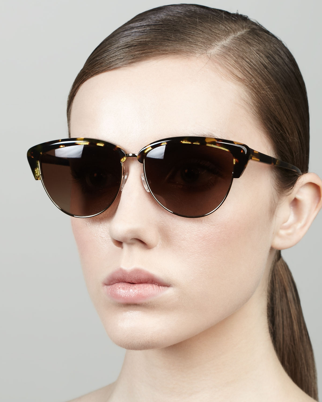 f667f3e663 Lyst - Oliver Peoples Alisha Half-cat-eye Sunglasses in Brown for Men