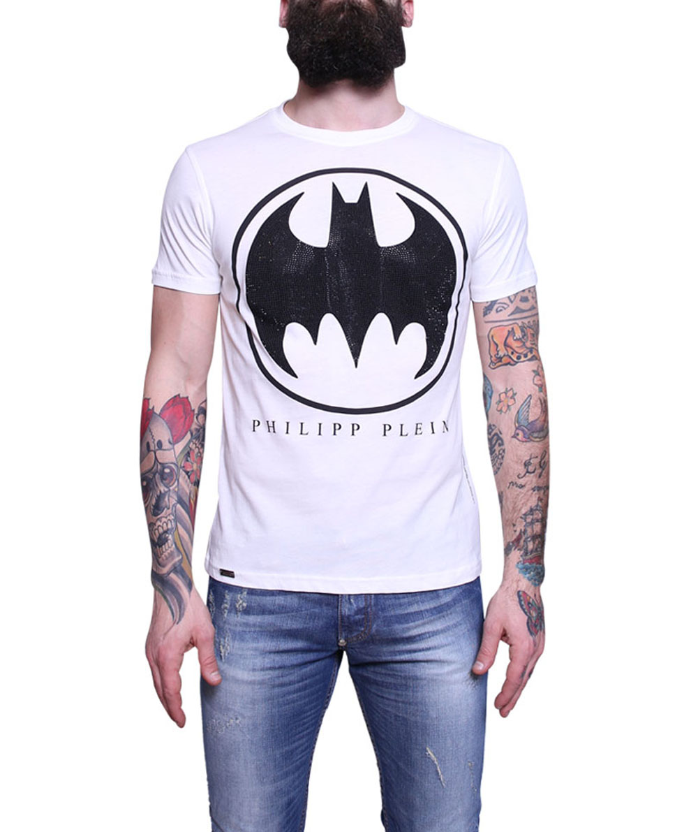 philipp plein tshirt batman forever in white for men lyst. Black Bedroom Furniture Sets. Home Design Ideas