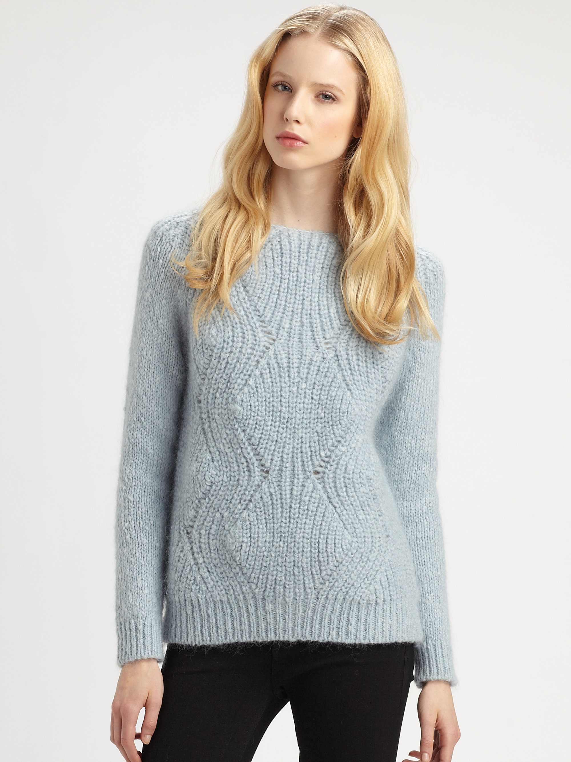 Surface to air Mohair Sweater in Blue | Lyst