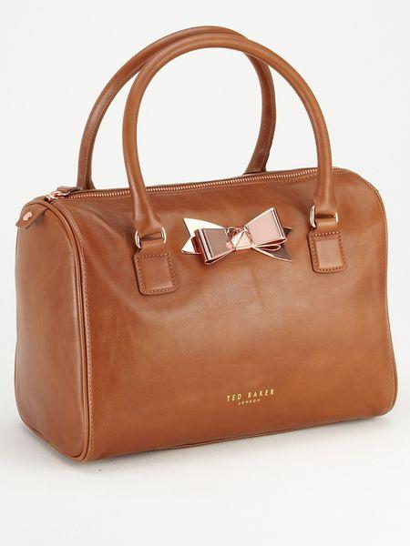 440afda969bd19 Ted Baker Metal Bow Bowler Bag in Brown (tan)