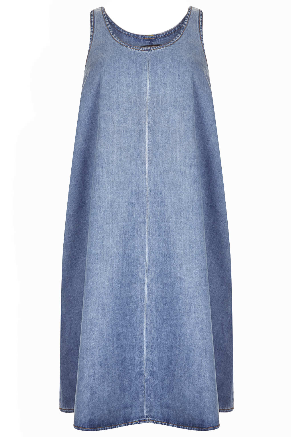 Topshop maternity moto denim trapeze dress in blue lyst gallery ombrellifo Gallery