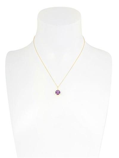 Delfina Delettrez Purple Triangle Necklace