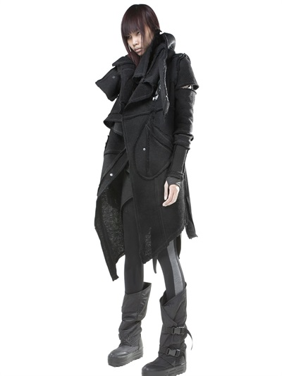 Demobaza Asymmetric Wool Parka In Black Lyst