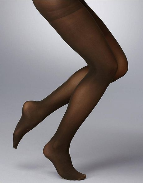 Dkny Opaque Tights In Brown Chocolate Lyst