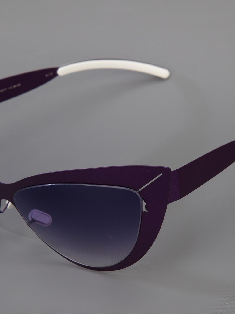 mykita beth ditto sunglasses in purple lyst