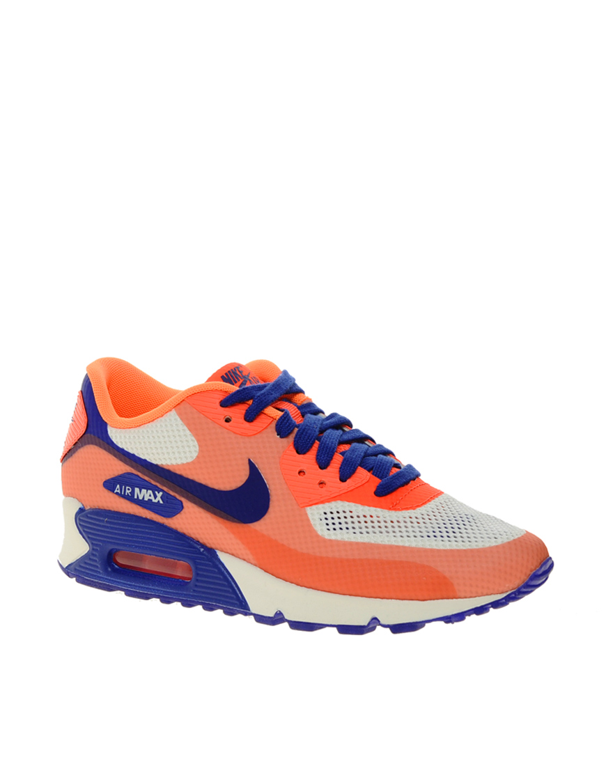 nike air max 90 hyp prm orange trainers