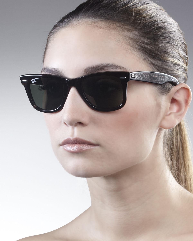 Oversized Wayfarer Sunglasses Men  ray ban original wayfarer sunglasses tortoise in black lyst