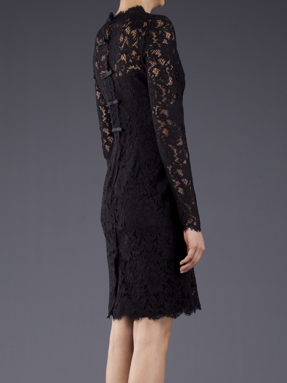 Valentino Lace Dress In Black Lyst