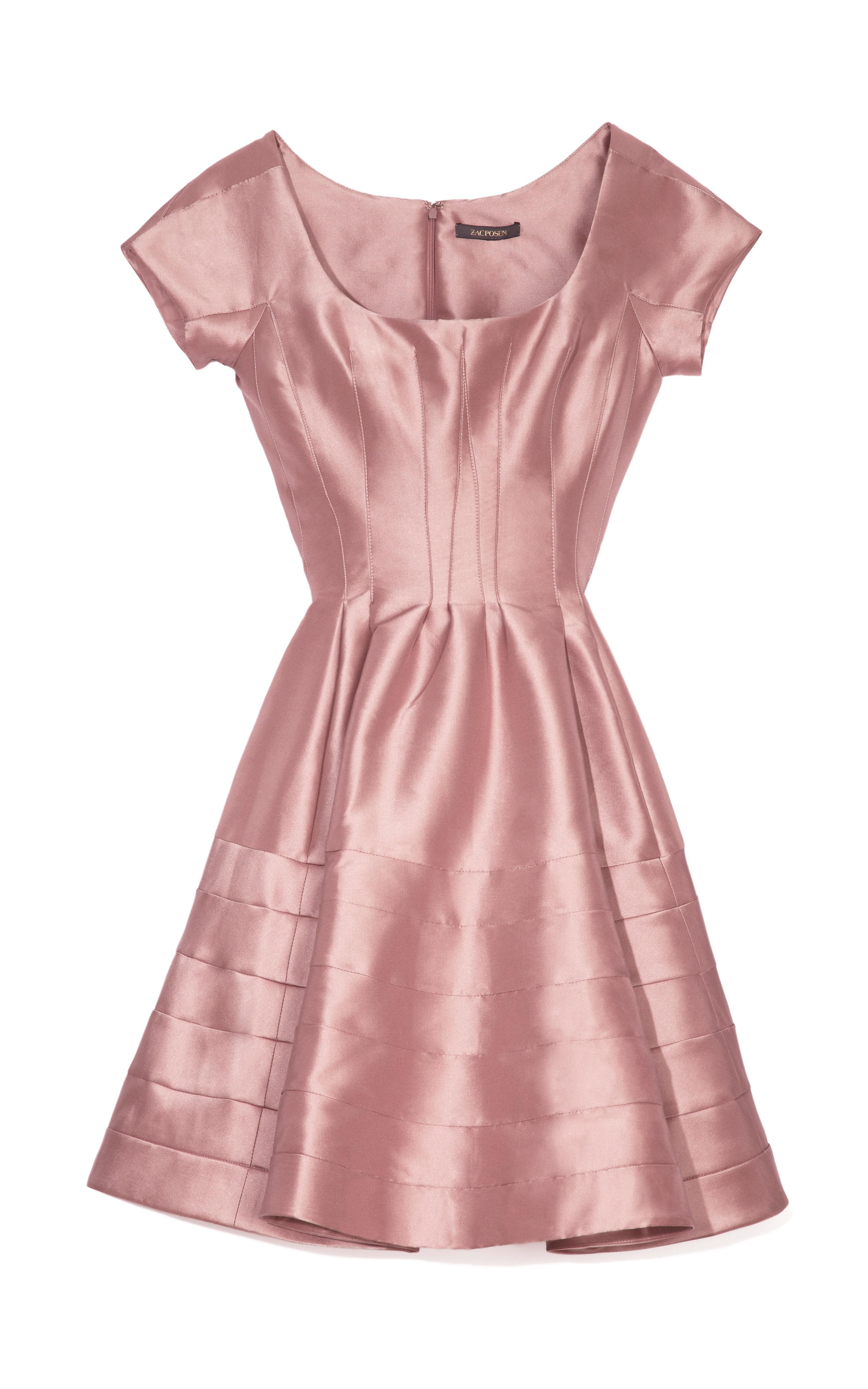 Pink Silk Cocktail Dress