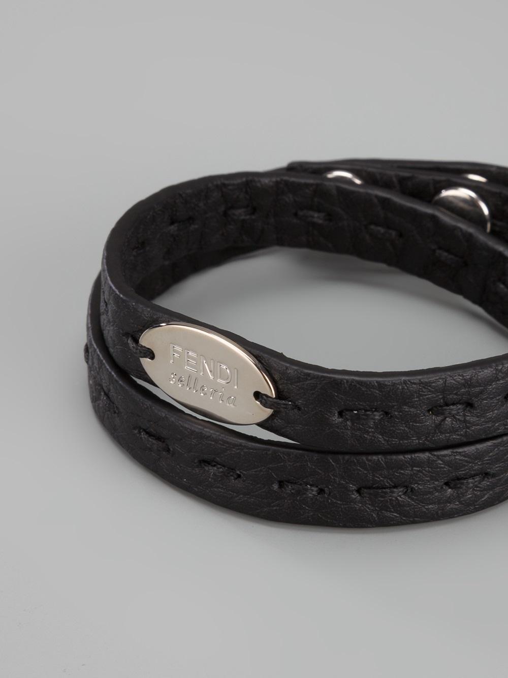 Fendi double wrap cocktail bracelet - Black d8JHUOdo