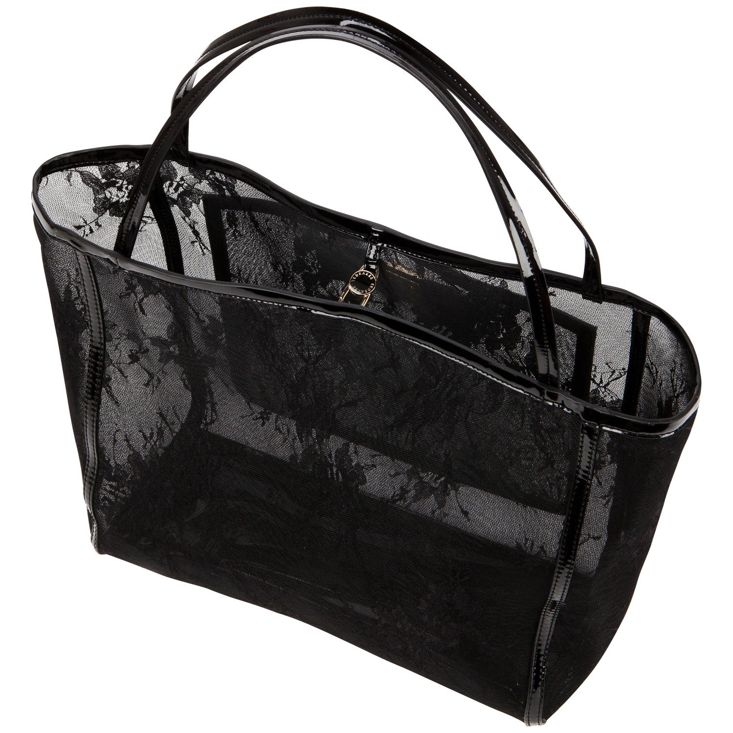 837fe0d2bd10f Ted Baker Lacett Large Lace Shopper Bag in Black - Lyst