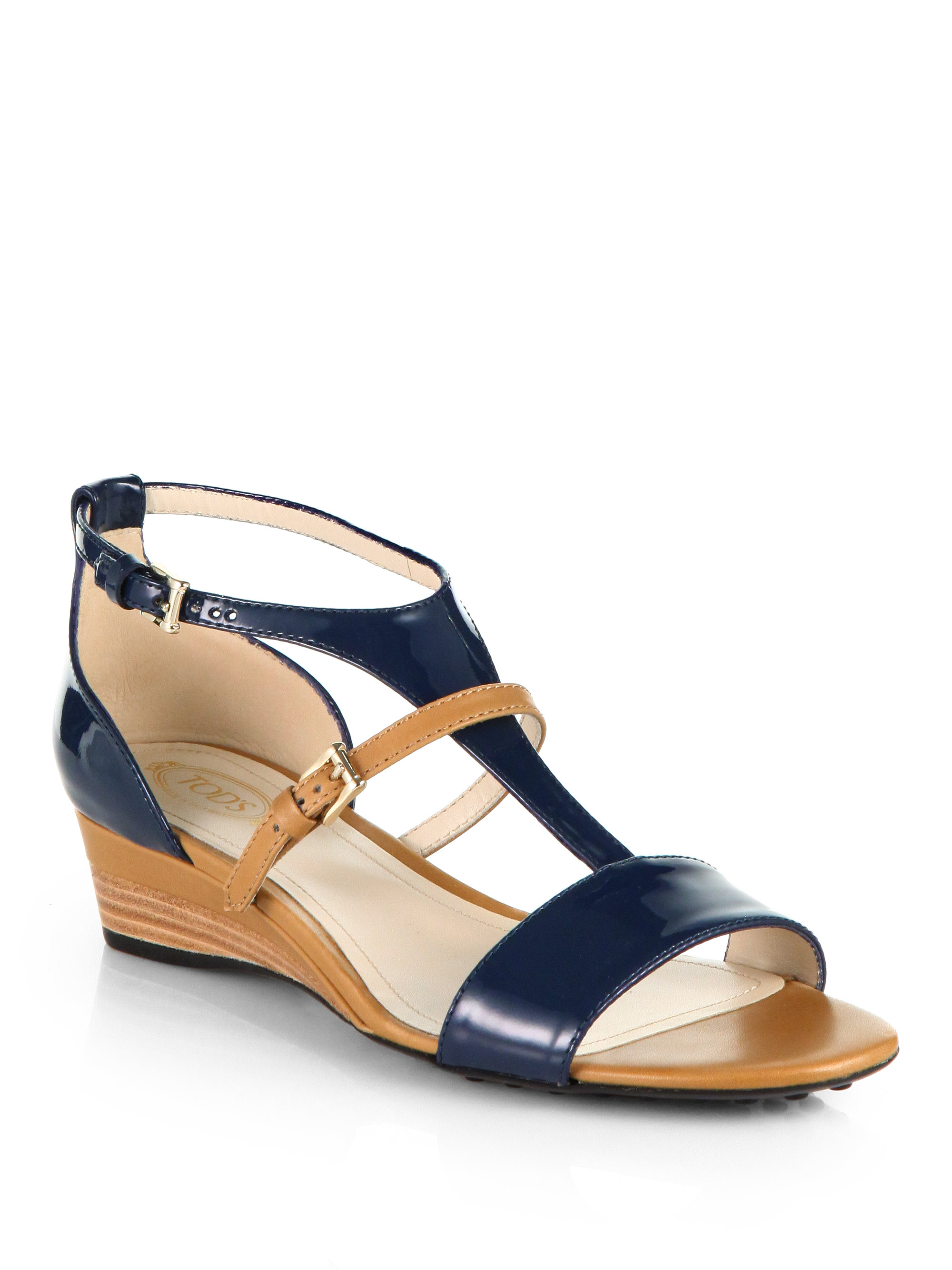 browse cheap price newest Tod's Patent Ankle-Strap Sandals buy cheap manchester great sale free shipping very cheap latest cheap online yS3pb