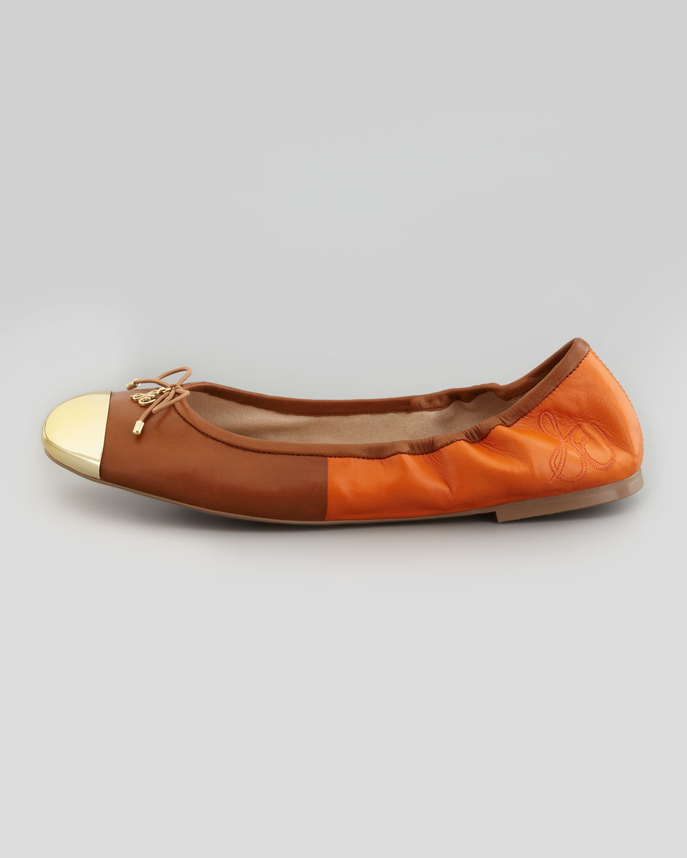 579b900f6 Sam Edelman Fairleigh Captoe Ballerina Flat in Brown - Lyst