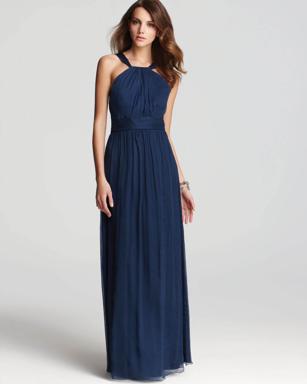 amsale dress high neck french blue bloomingdales wedding dresses Gallery