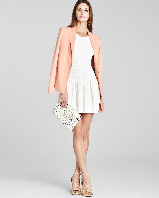 Bcbgmaxazria Dress Astra Ruffle Hem In White Lyst