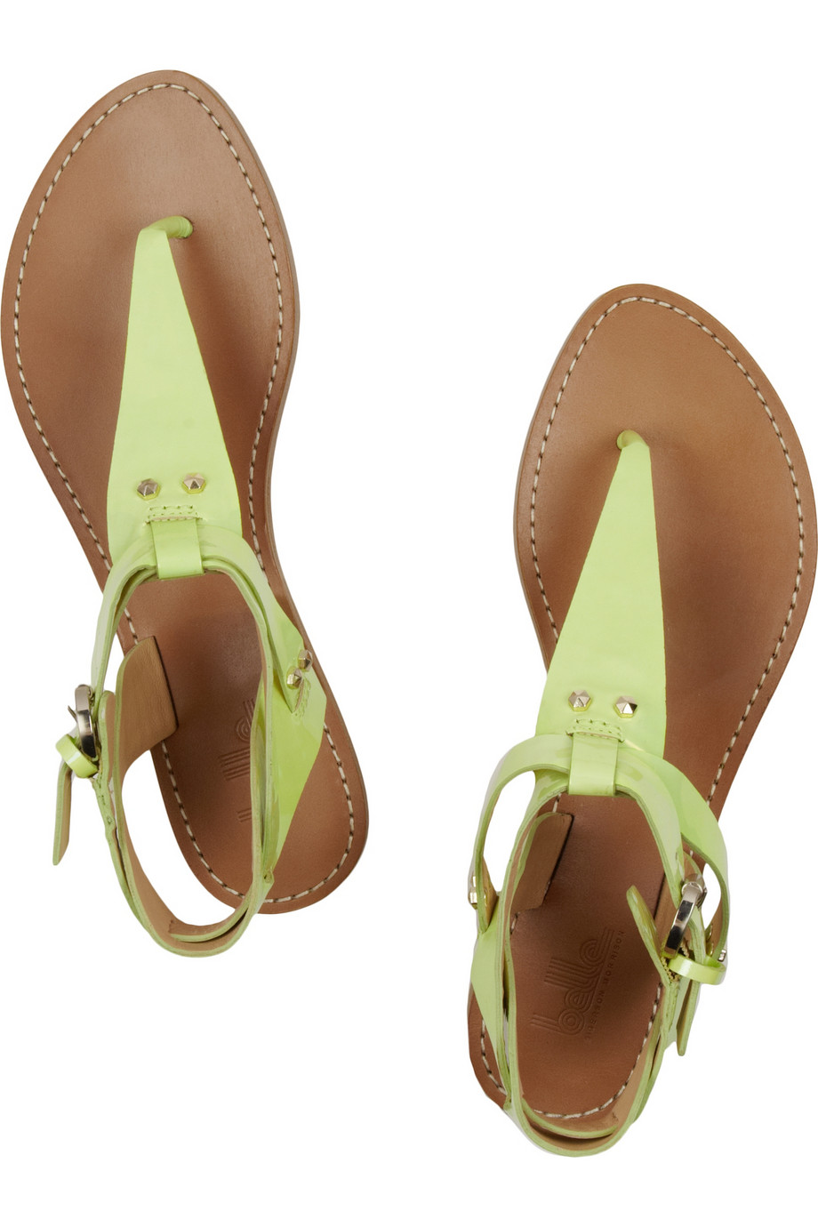 Belle By Sigerson Morrison Randy Patentleather Sandals In
